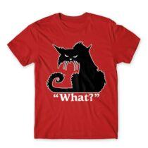 Black cat  What? férfi póló