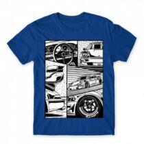 Race car comic - férfi póló