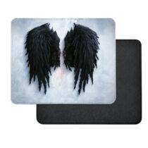 Fekete angyal szárny műbőr egérpad
