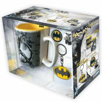 Batman ajándékcsomag (bögre + kulcstartó + kitűzők)