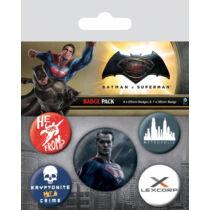 Batman Vs Superman 2 kitűző szett