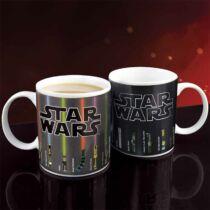 Star Wars fénykardos hőre változó bögre