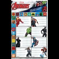 Marvel Bosszúállók füzetcímke 16 db-os