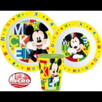 Disney Mickey étkészlet szett pohárral