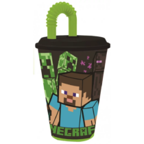 Minecraft műanyag szívószálas pohár