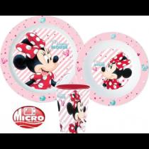 Disney Minnie mikrózható étkészlet pohárral