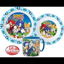 Sonic étkészlet szett bögrével