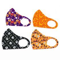 Halloween mintájú arcmaszkok - 4 különböző mintával