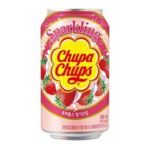 Chupa Chups - Eper és krém izű szénsavas üdítőital