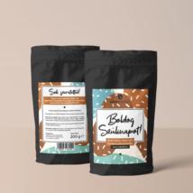 Boldog születésnapot feliratú kávékülönlegesség