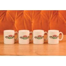 Jóbarátok Central Perk espresso csésze szett ( 4 db)