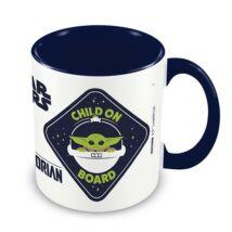 The Mandalorian Baby Yoda bögre - Gyermek a fedélzeten (Child on board)