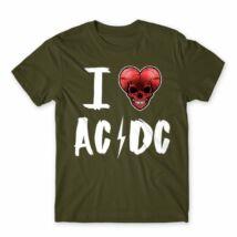I Love AC/DC férfi póló