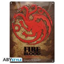 Trónok harca -  Targaryen Fém Tábla