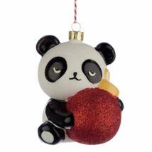 Pandás karácsonyfadísz