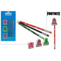 Fortnite grafit ceruza + radír 6 db-os szett