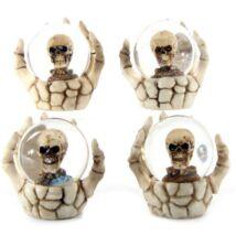 Koponyás hógömb csontvázkézben