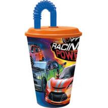 Racing power szívószálas pohár
