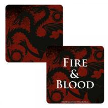 Trónok Harca Targaryen Fire and Blood hologramos poháralátét
