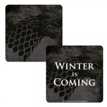 Trónok Harca Winter is Coming hologramos poháralátét