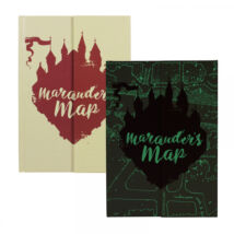 Harry Potter sötétben világító tekergők térképe jegyzetfüzet