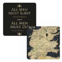 Trónok Harca Westeros térkép hologramos poháralátét