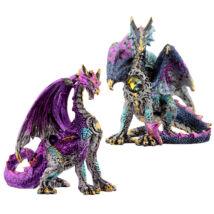 Dark Legends Kristály Pajzs Sárkány szobor (kétféle)