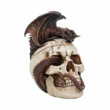 Sárkány koponyán szobor