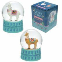 Karácsonyi alpaka hógömb két színben