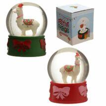Karácsonyi lámás hógömb két féle színben