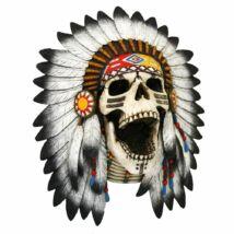 Törzsi kiáltás koponya szobor