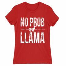 No Prob Llama női póló