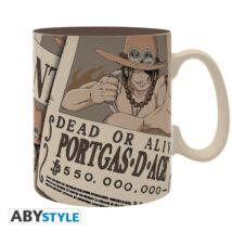 One Piece - Wanted Ace nagyméretű bögre