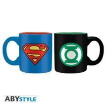DC Comics - Superman és Zöld lámpás presszó kávé bögre szett (2db)