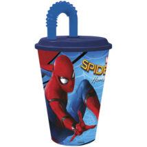 Spiderman szívószálas pohár
