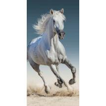 Fehér lovas fürdőlepedő