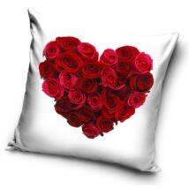 Rózsa szív párnahuzat