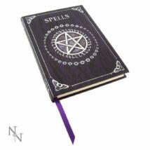 Dombornyomott Boszorkány varázskönyv lila