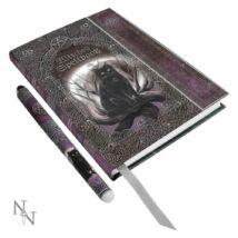 Dombornyomott boszorkány varázskönyv varázs tollal