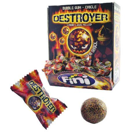 Destroyer Extra savanyú rágógumi eper ízű folyadékkal