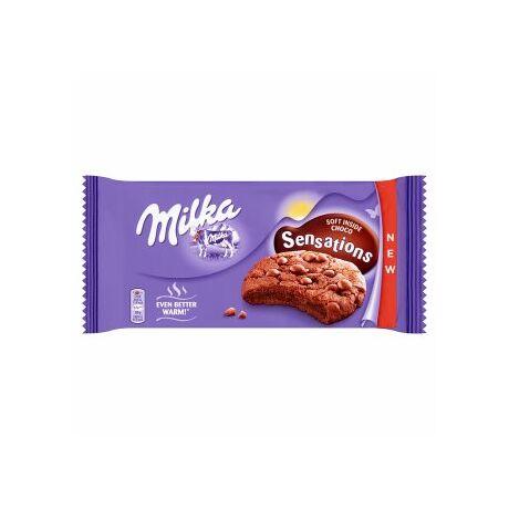 Milka Sensations keksz csokidarabokkal (156g)