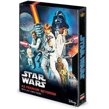 Star Wars VHS - A New Hope  prémium jegyzetfüzet