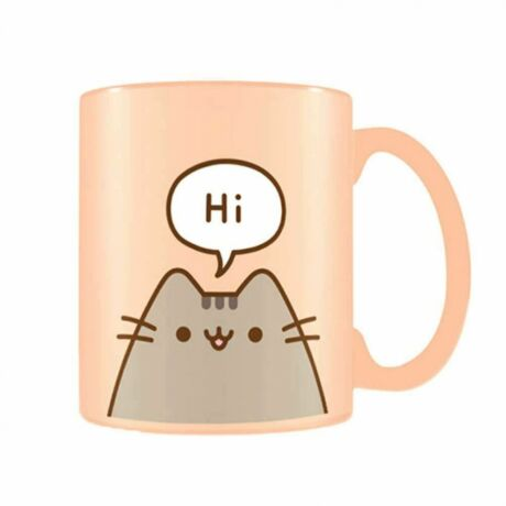 Pusheen cica hello, goodbye bögre