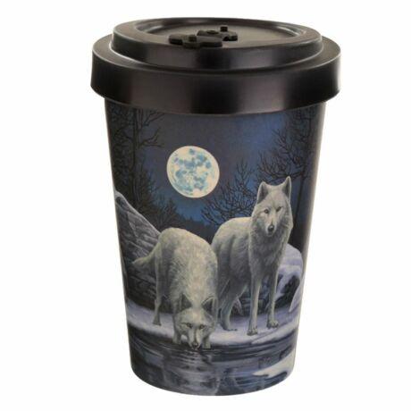 Lisa Parker - Téli harcos farkasok utazó bögre