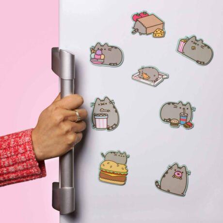 Pusheen cica hűtőmágnes szett (8 DB)