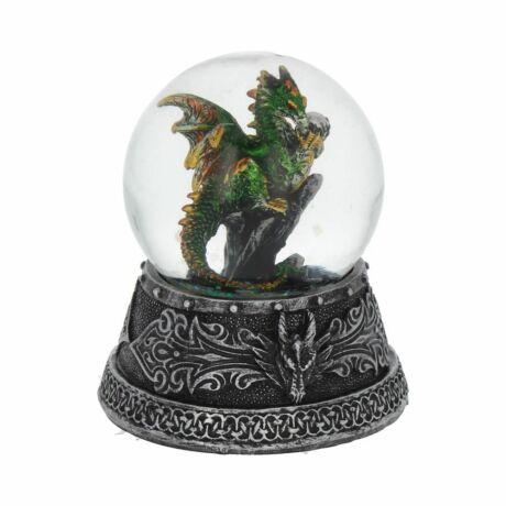 Zöld sárkány hógömb