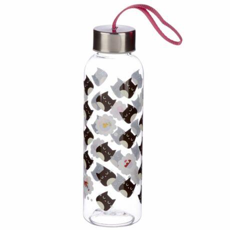 Cicás vizes palack fém fedővel