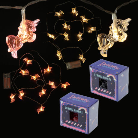Ugró unikornis LED fényfüzér