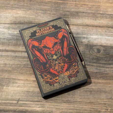 Dungeons & Dragons jegyzetfüzet ceruzával