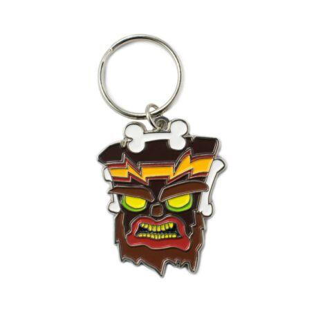 Crash Bandicoot - Uka Uka fém kulcstartó